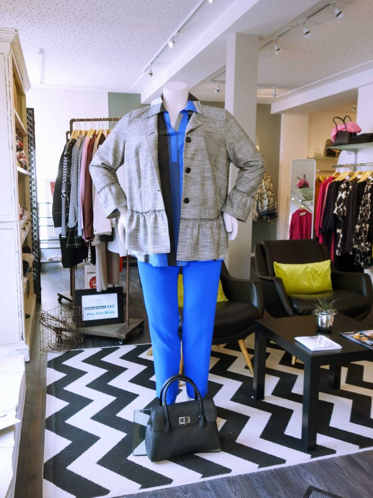 Unser Look der Woche - azurblau und Glencheck