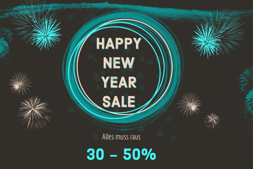 Happy New Year (Sale): bis 50% reduziert. Auf alles, auch Sallie