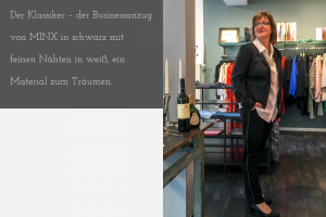 Unser Look der Woche – edler Businessanzug aber mit lässiger (Streifen)-Attitüde
